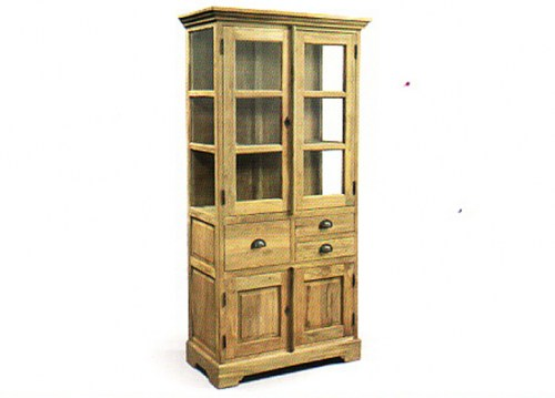 santo-display-cabinet-2doors-3-drawers-90x40x200